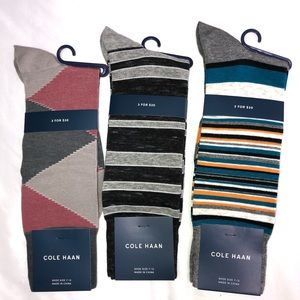 Cole Haan Mens Stripe Crew Novelty Dress Socks